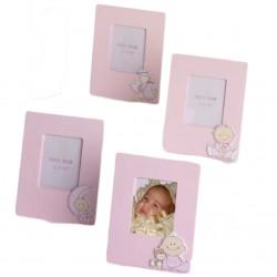 Portafotos madera rosa