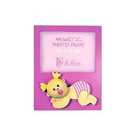 Portafotos bebe rosa