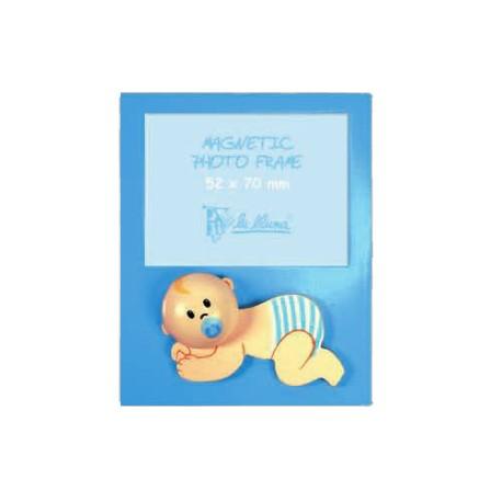 Portafotos bebe azul