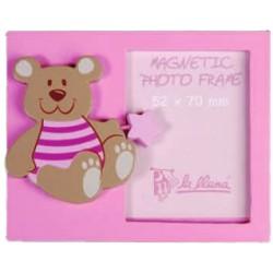 Portafotos osito rosa