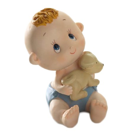 Figura tarta bebe niño perrito