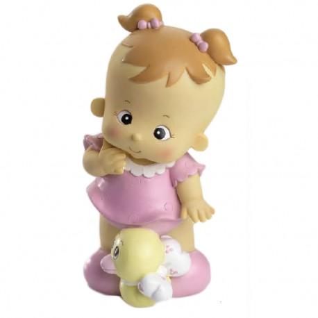 Figura tarta bebe niña patito