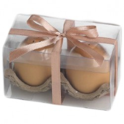 Huevo salero y pimentero con caja