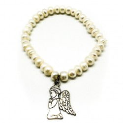 Pulsera perlas naturales con colgante