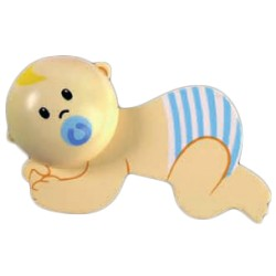 Imán bebe azul