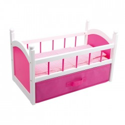 Cama de muñeca rosa