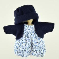 Ranita flor azul para bomboncín