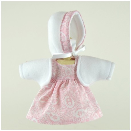 Vestido rosa para bomboncín