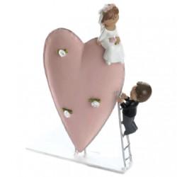 Figura tarta novios escalera amor