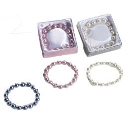 Pulseras perlas con caja