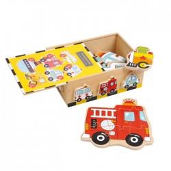 Caja de puzzle Vehiculos