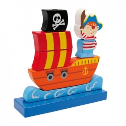 Barco pirata para ensartar
