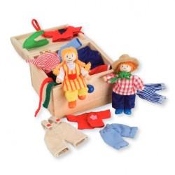 Muñecos de madera para vestir