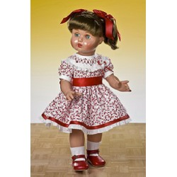 Mariquita Pérez vestido flores rojas